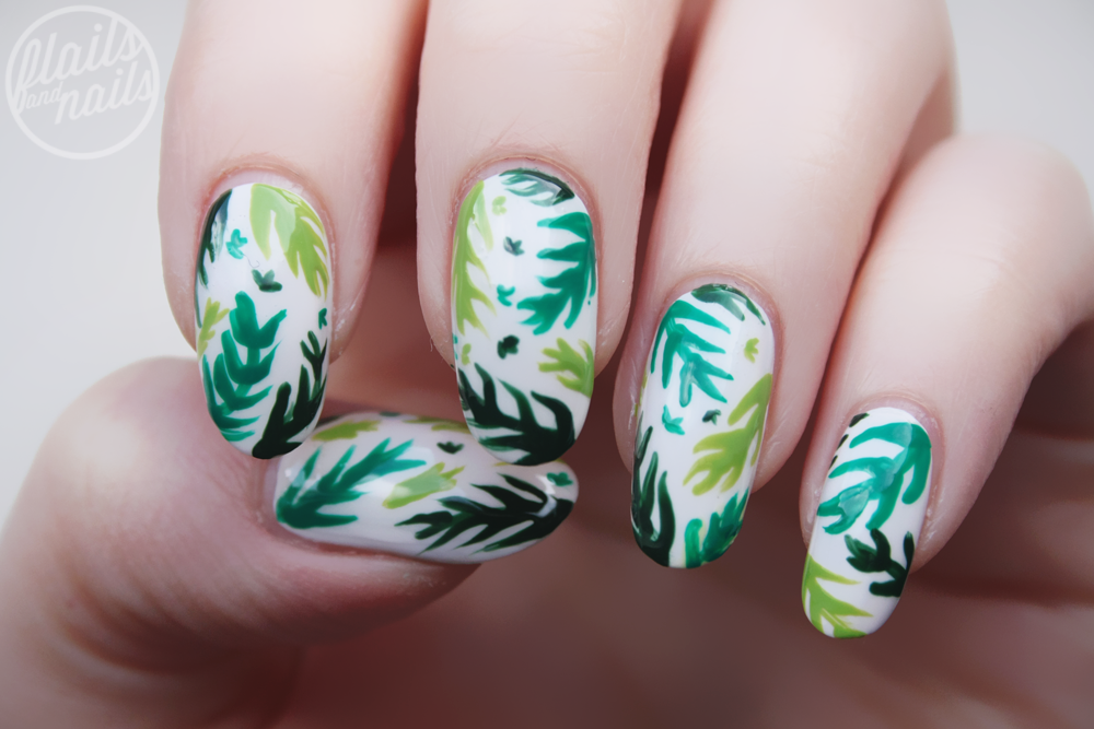 Tropical Fern Nails
