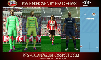 PES 2013 PSV EINDHOVEN Official Kits 15-16 With New UCL Home Kit by FPatcher98