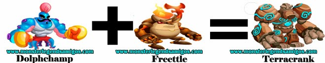 como hacer el monster terracrank en monster legends formula 4