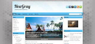 NewGray Blogger Template