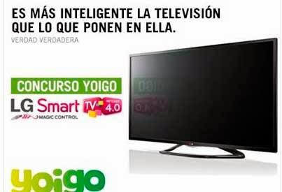 Smart TV LG GRATIS con Yoigo - Concurso