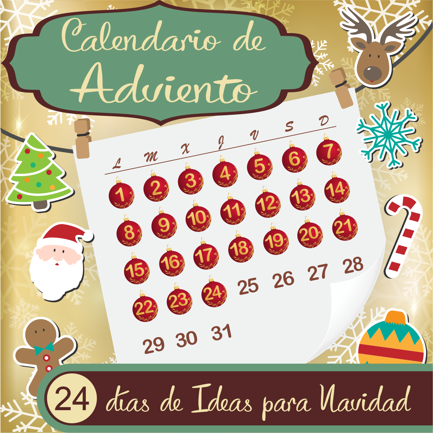 Calendario de Adviento Blogger