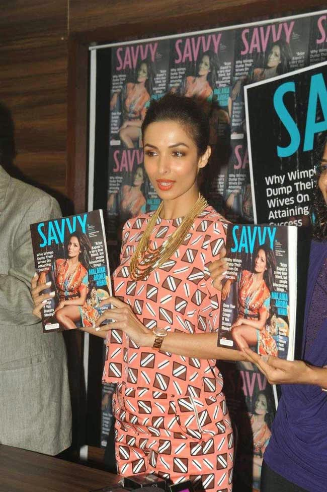 Malaika Arora Khan At SAVVY Magazine Cover Page Launch