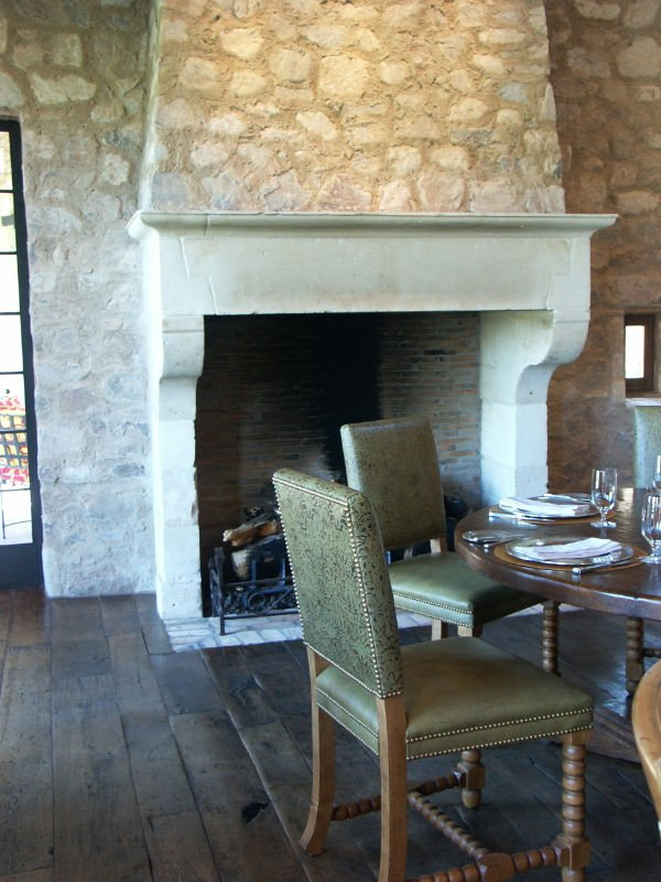 Fireplaces on pinterest mantels limestone fireplace and for French country stone fireplace