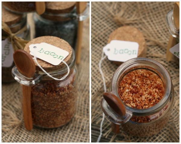 Bacon Sea Salt {DIY} #HandcraftedHolidays at www.girlichef.com