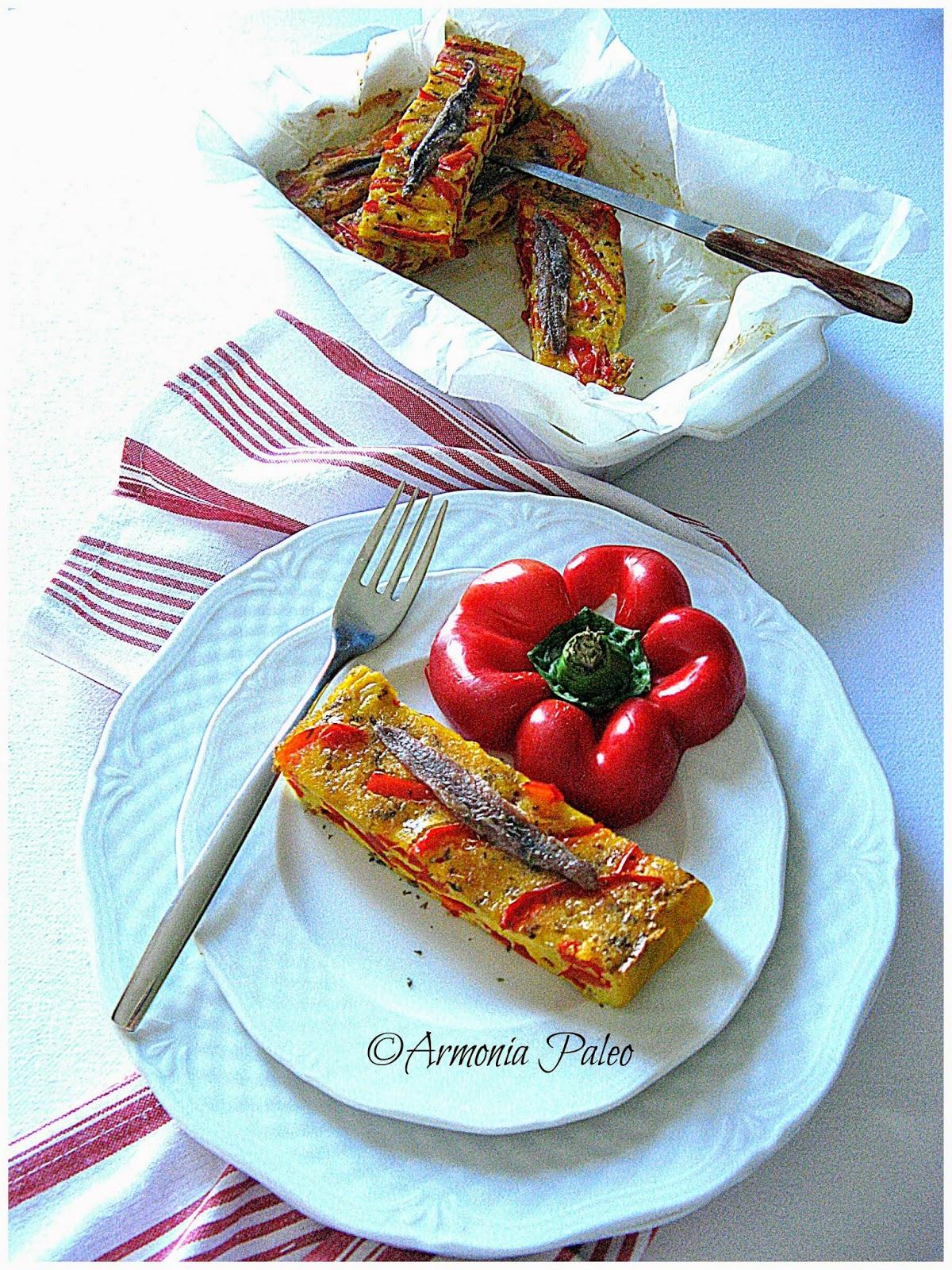 Frittata con Peperoni e Acciughe di Armonia Paleo