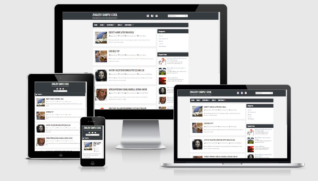 Zikazev Simple Cool Responsive Blogger Template