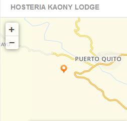 mapa como llegar Hostería Kaony Lodge