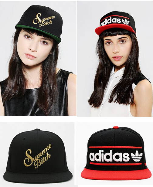 Baseball caps at Urban Outfitters