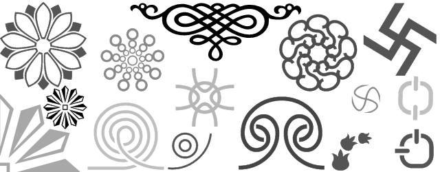 Decorative border font shree234