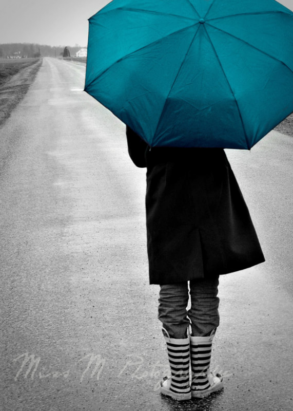 """Long Walk Home"" ~ Miss M Photography #photography #turquoise #umbrella"