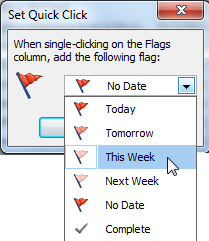 how to add flag folder in outlook