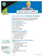 Safety Month Materials List