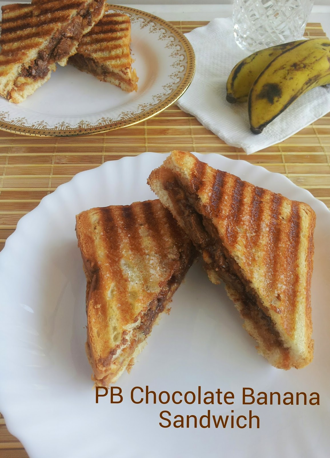 peanut butter chocolate banana sandwich