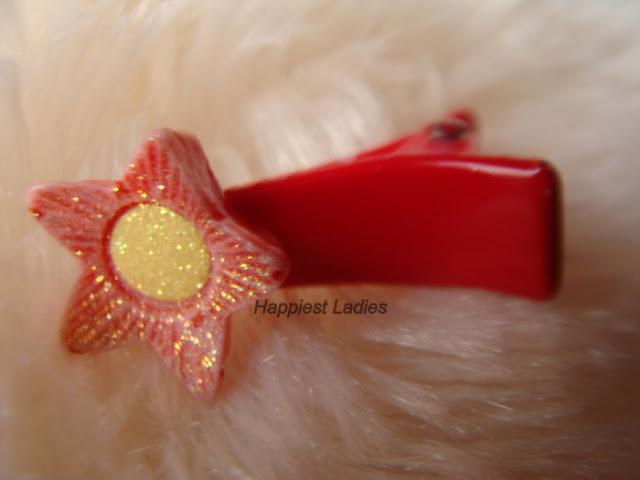Red Star hair Clip+hair accessories
