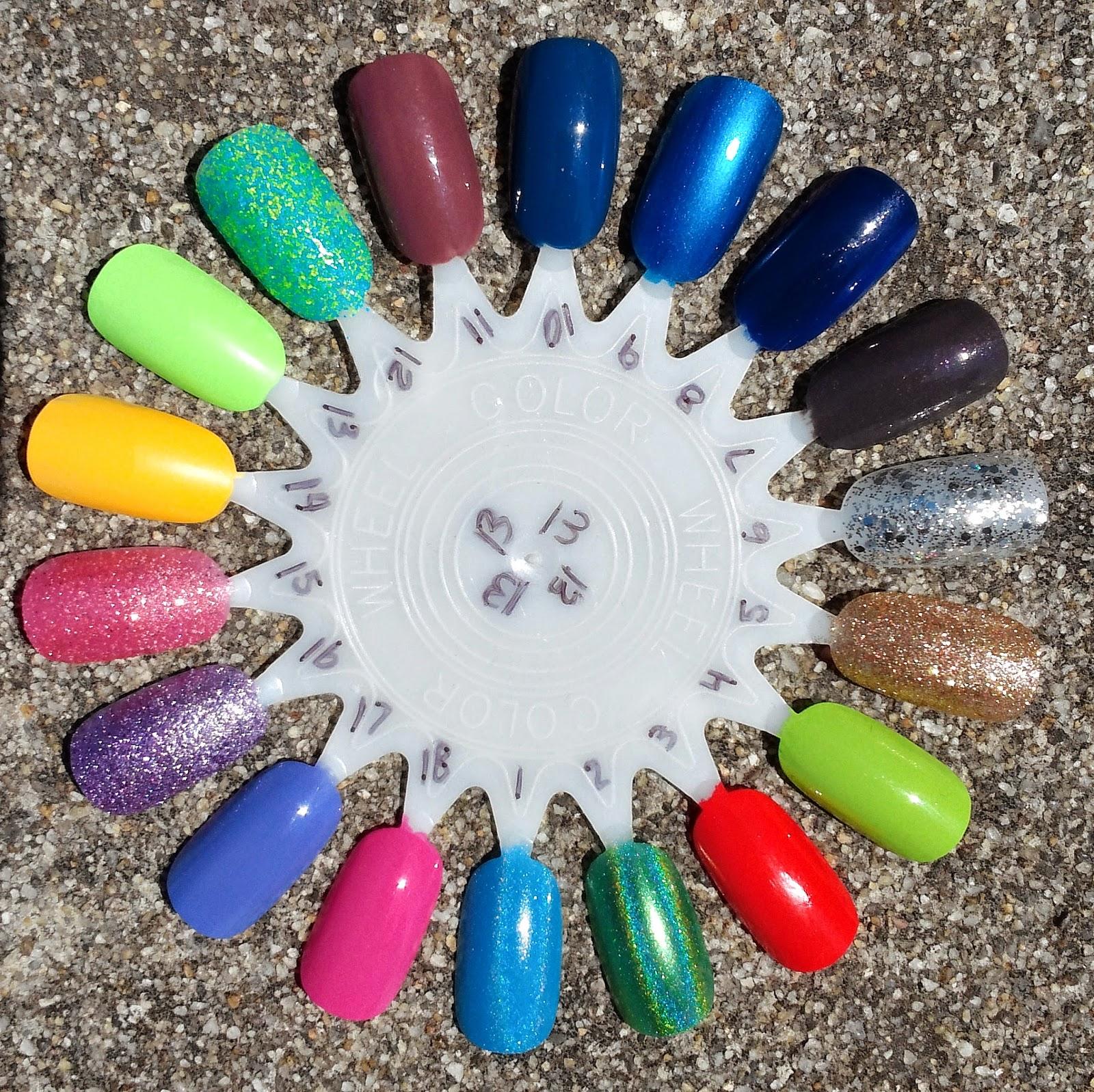 Glossy and Glitter: Nail Wheels/Stash List
