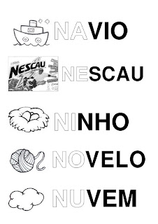 Silabário: na, ne, ni, no, nu