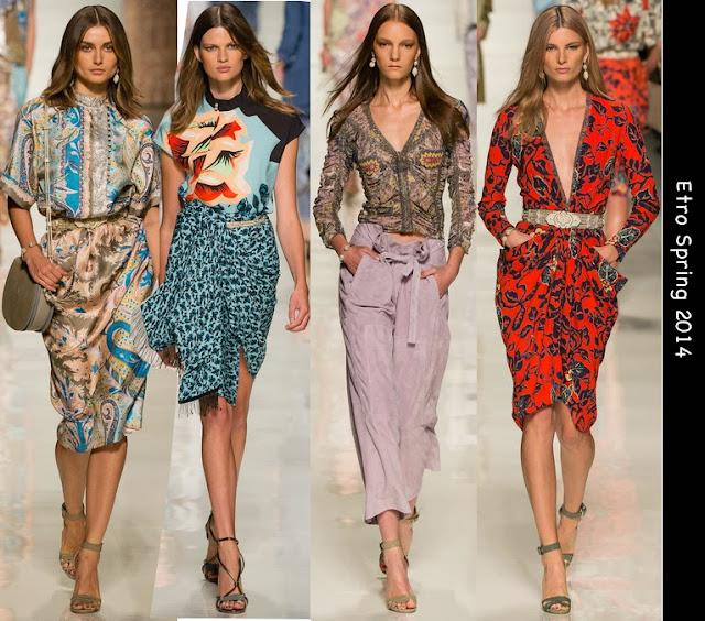 etro spring 2014 womens print dresses