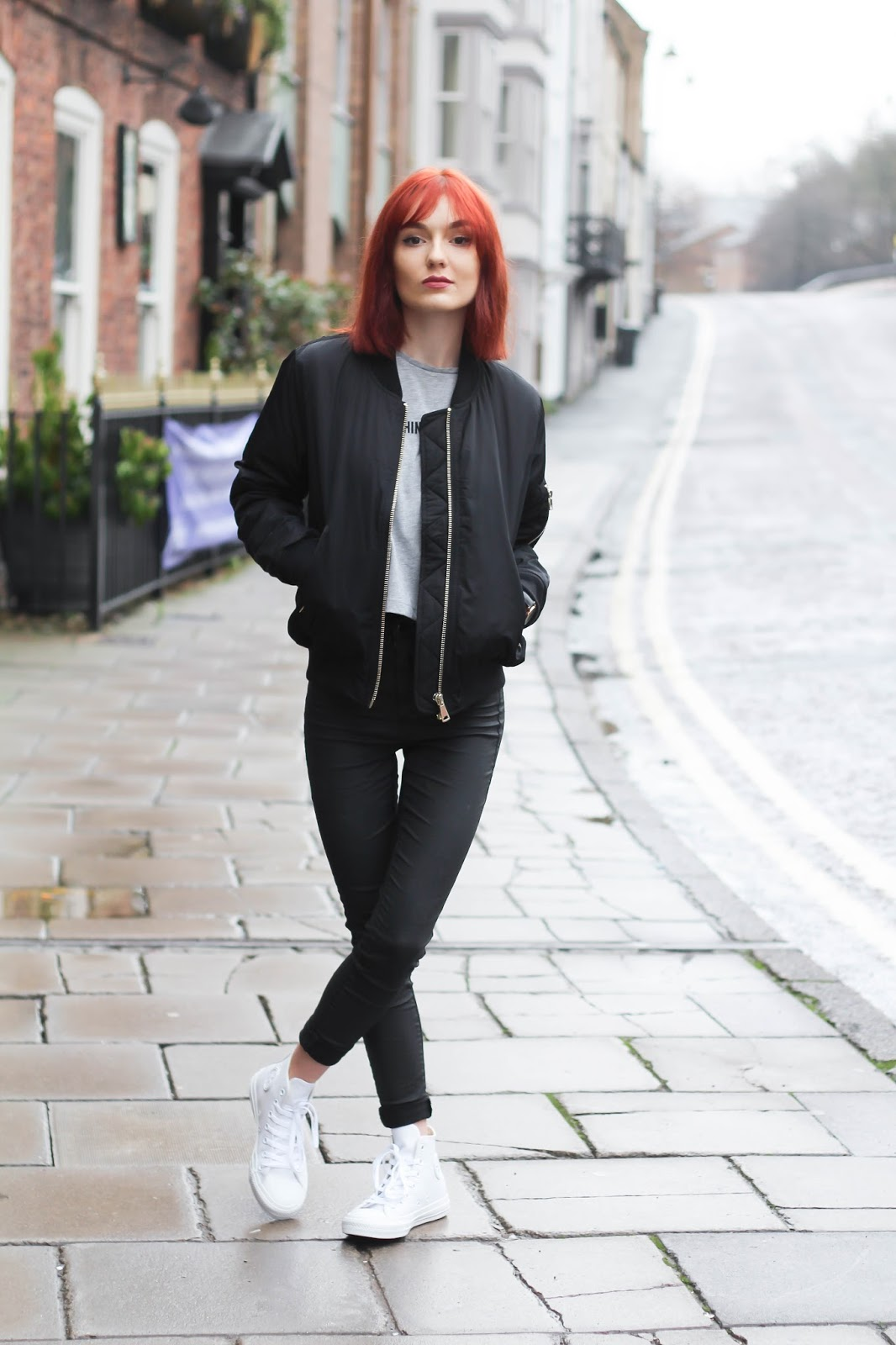 Collection Black Bomber Jacket Womens Outfit Pictures - Get Your