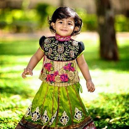 Little Kid in Attractive Lehenga