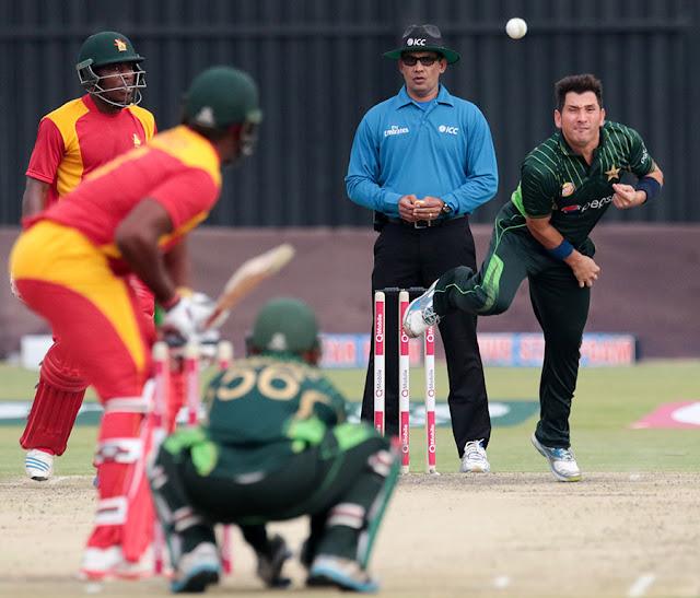 Pakistan vs Zimbabwe 2015: Pak beat Zimbabwe by 131 Runs.