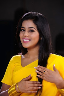 Poorna New Pictures in Yellow saree 007.jpg
