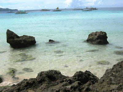 Clear Boracay seawater the Philippines
