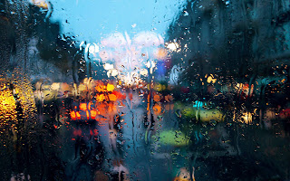 Raining on Glass