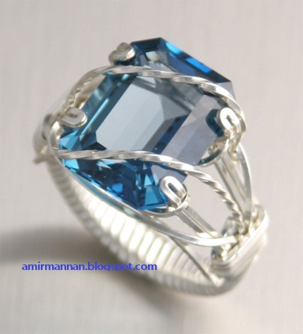 Giaint Blue Topaz Ring