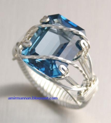 Giaint Blue Topaz Ring