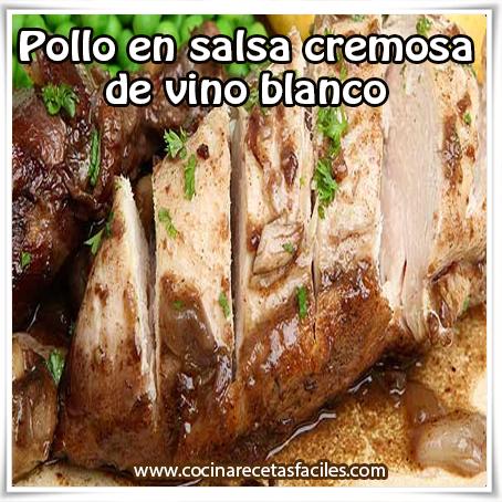 Recetas de pollo,  receta de pollo en salsa cremosa , pollo , vino