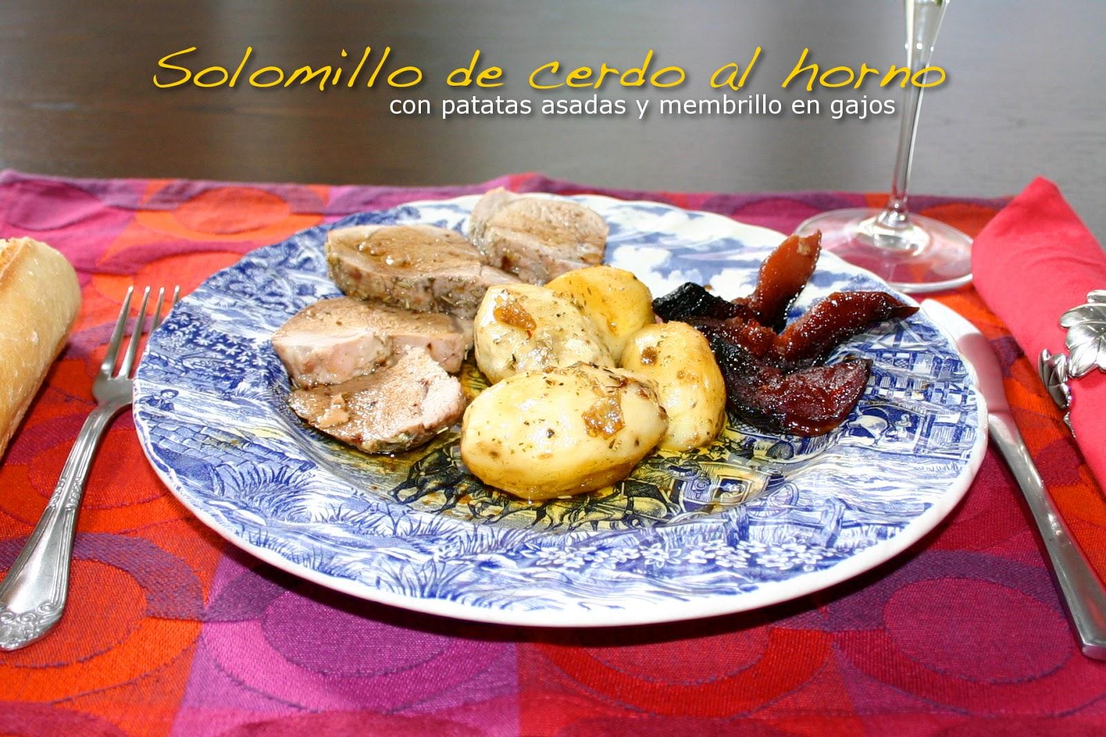 Un Toque De Azafr N Solomillo De Cerdo Asado Con Patatas