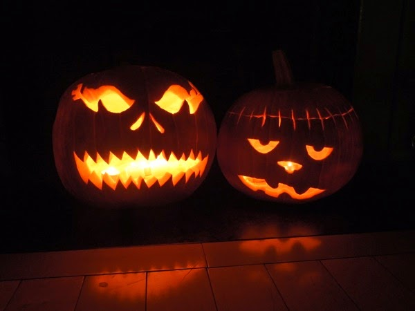 Carved Halloween pumpkins 2015