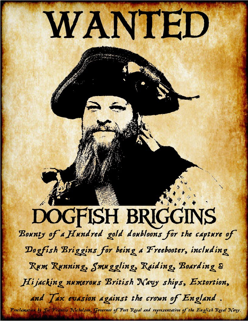 wanted posters by Knotfist the canibal pirate.