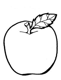 Download Buku Mewarnai Gambar Buah Apel