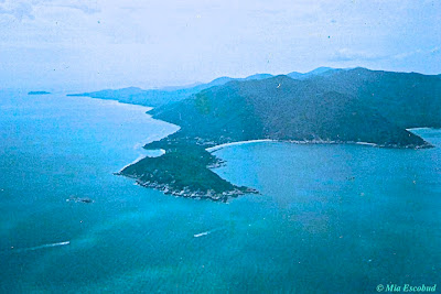 View of Full Moon Party beach, Koh Phangan, Thailand from the air