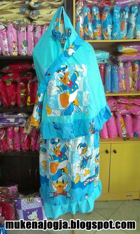Mukena Anak Karakter Donald Duck Biru