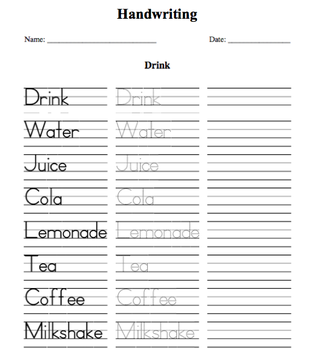 Printables Printing Practice Worksheet handwriting homework worksheets sheets ks