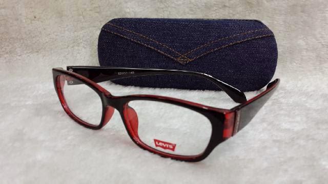 kacamata frame levis 96027 hitam merah