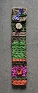 funda flauta / algodón, madera y cuero