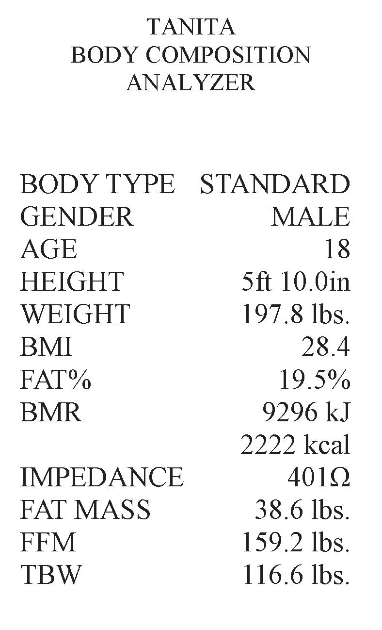 Healthy west jordan body composition interpreting your results this printout has a lot of information that can help you make wise decisions when it comes to weight loss the most important thing when it comes to weight nvjuhfo Gallery