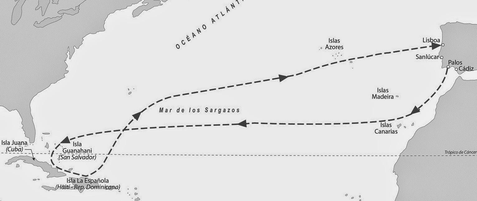 Primer viaje de Cristobal Colón - www.historiadelascivilizaciones.com
