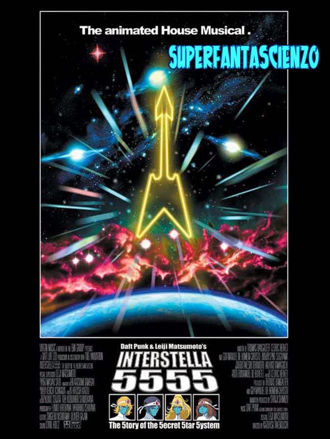 Interstella 5555 daft punk recensione poster