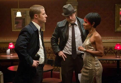 Ben McKenzie and Donal Logue as Detective James Gordon and Harvey Bullock with Jada Pinkett Smith as Fish Mooney in Fox Gotham TV Show Episode 2 Selina Kyle