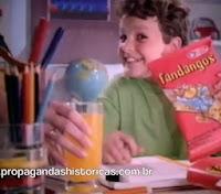 Propaganda do Fandangos (Elma Chips) em 1992.