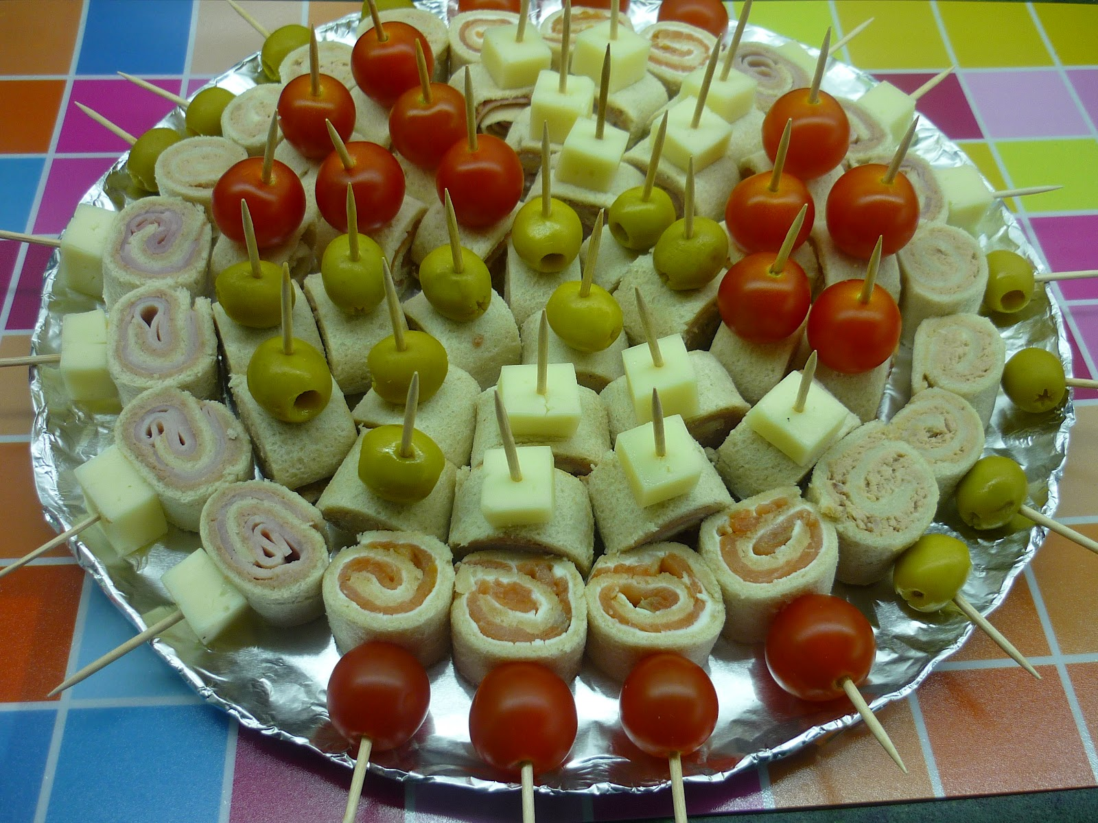 Mi pasi n dulce for Canape de jamon y queso