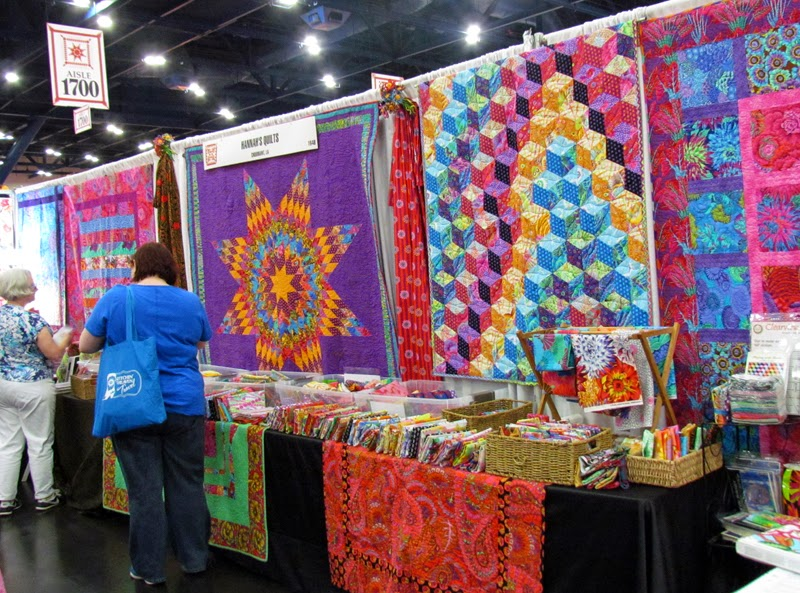 My Lone Star Quilt hanging in Hannah's Booth - Marty Mason
