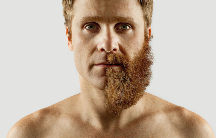 Adriano Alarcon complementa sua barba com objetos inusitados