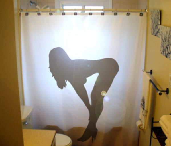 Funny shower curtains 20 pics curious funny photos for Naked bathroom pictures