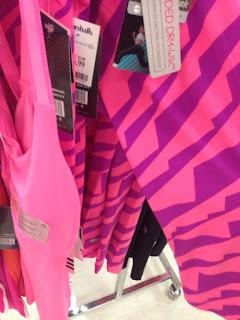 Style Athletics Bright Pattern Workout Pants Pink Purple